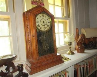 ONE OF SEVERAL OLD CLOCKS