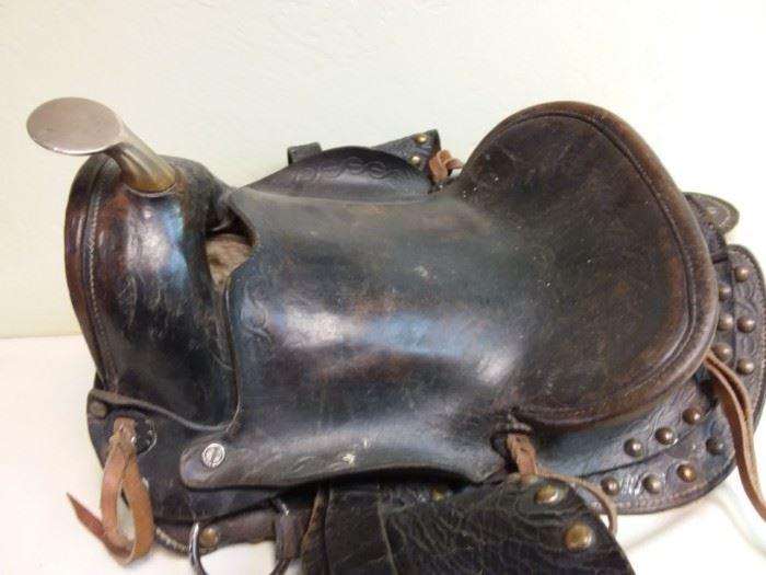 vintage leather saddle