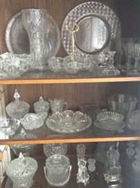 Beautiful Vintage glassware & Crystal. Lots more than what is shown here!!!  COME SEE!!