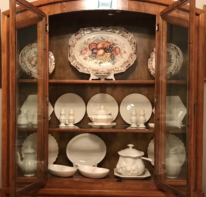 "Vintage China ~ Johnson Brothers Windsor Ware ""Harvest""  & beautiful Handmade White ceramic dishes and serving pieces."
