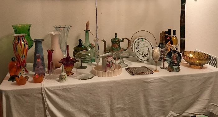 Vases, music box, wine carafe` & more!
