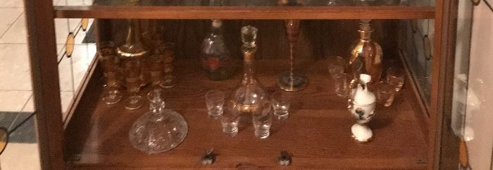 Beautiful Glass decanter sets! You must see in-person to appreciate the beauty!!