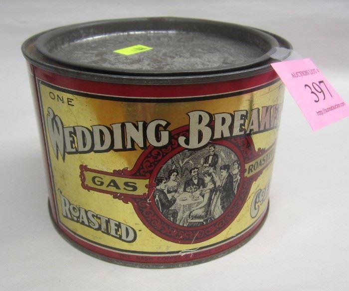 old coffee tin