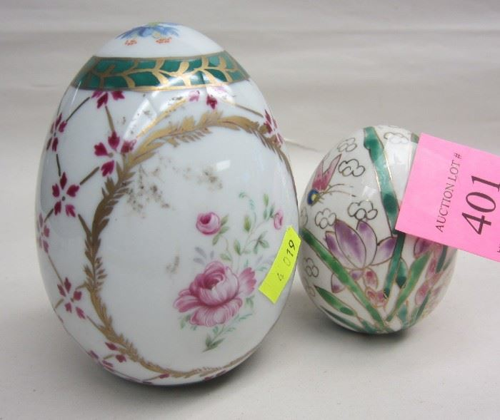 hand painted porcelain eggs