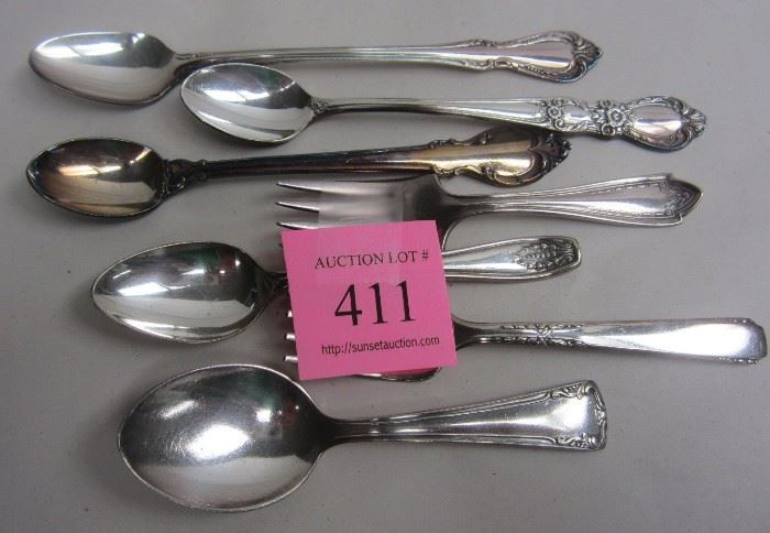 silver plated baby spoons