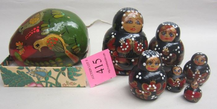 Small Russian nested dolls