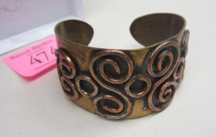 brass/copper cuff bracelet