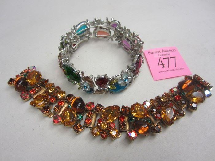 Rhinestone costume bracelets