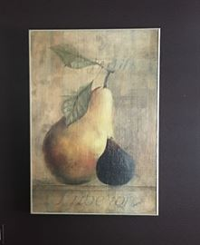 Art framed pear and fig