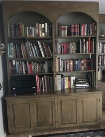 arched book shelf cabinet