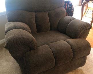 Comfy upholstered recliner