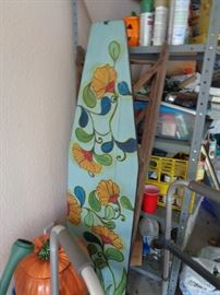 love this hand painted vintage wooden ironing board