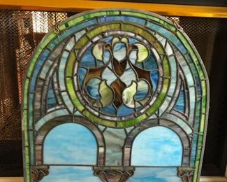 Beautiful Antique Window we took it down from a high point on the entry wall so that it could be better inspected by you the Client. It is Wonderfully Made comes with the chain for hanging it.