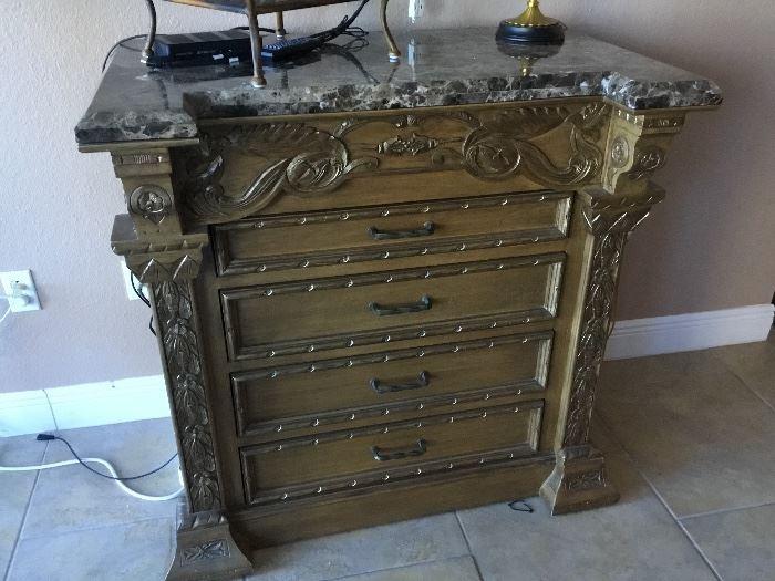 Matching chest granite top