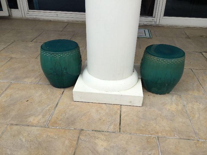 Pair of garden seat