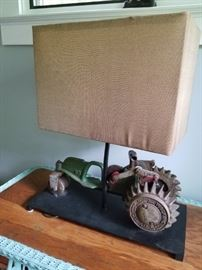 Vintage Sprinkler Made Into Lamp