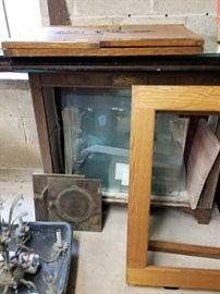 Lots of frames, glass, parts and pieces..