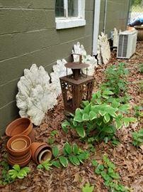 Poured Concrete Leaves
