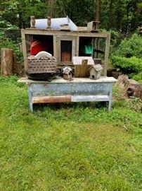 Bird Houses and Farm Equipment