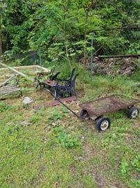 Bench Parts and a Garden Cart