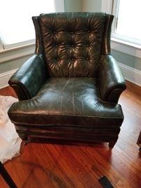 Dark Green Leather Chair