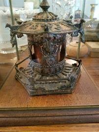 Pagoda , in glass case.