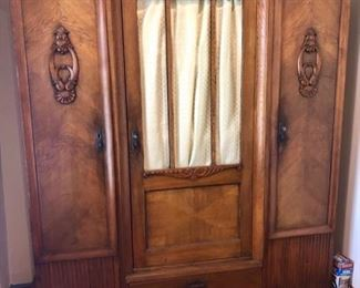 Massive Dutch two door armoire