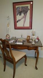 Very nice writing desk with matching chair.