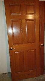 Two solid wood doors