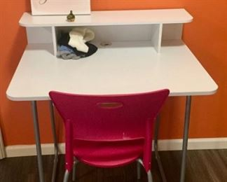 Desk and Pink Chair