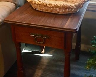 Side Table and Basket