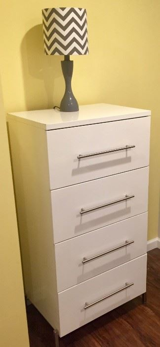 Dresser and Chevron Lamp
