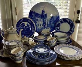 Beautiful vintage blue dishware