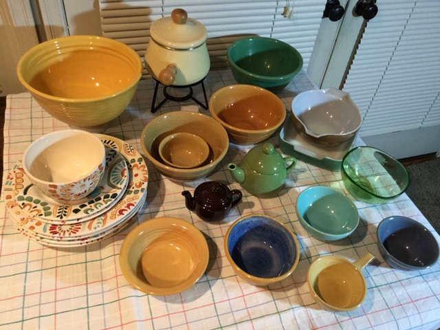 Vintage mixing bowls, Pyrex
