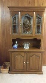 small 2 piece china cabinet