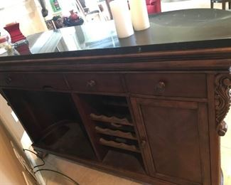 Ashley Chestnut Bar with Granite top and lovely detail
