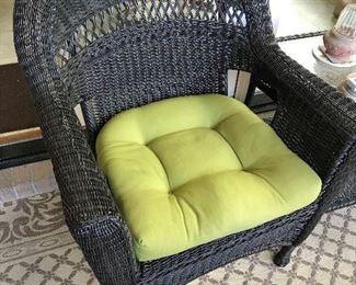 Resin Wicker Chair / Cushion $ 60.00