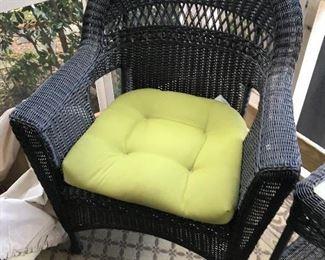 Resin Wicker Chair $ 60.00