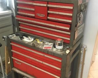 Craftsman tool chest & tools in tool room