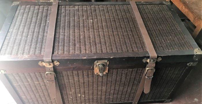 Rattan chest