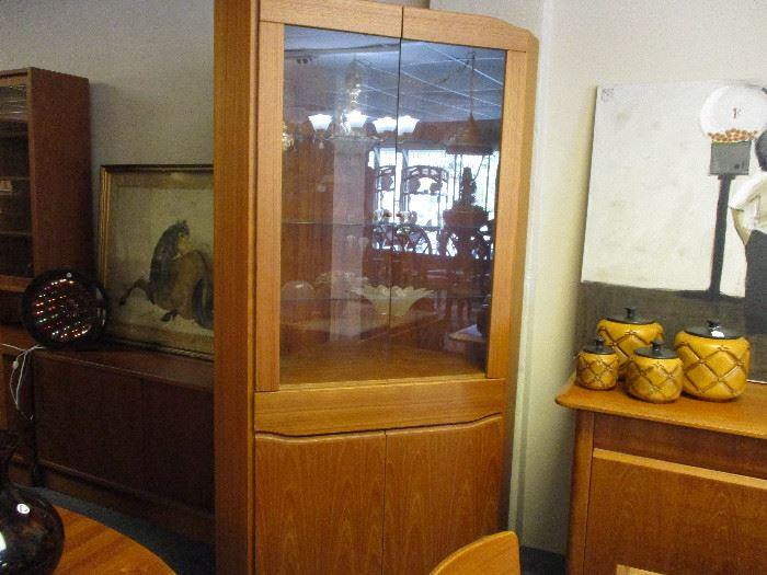 "Skovby made in Demark corner cabinet 44"" wide, 76"" high and 21""1/2 deep"