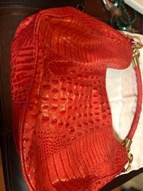 Brahmin alligator print large hobo