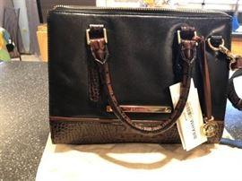 Brahmin new with tags black brown handbag