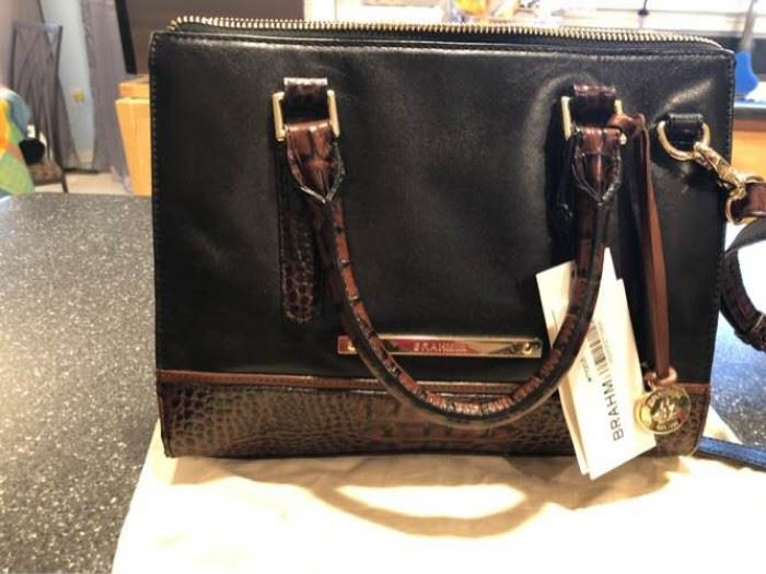 Brahmin new with tags black brown handbag