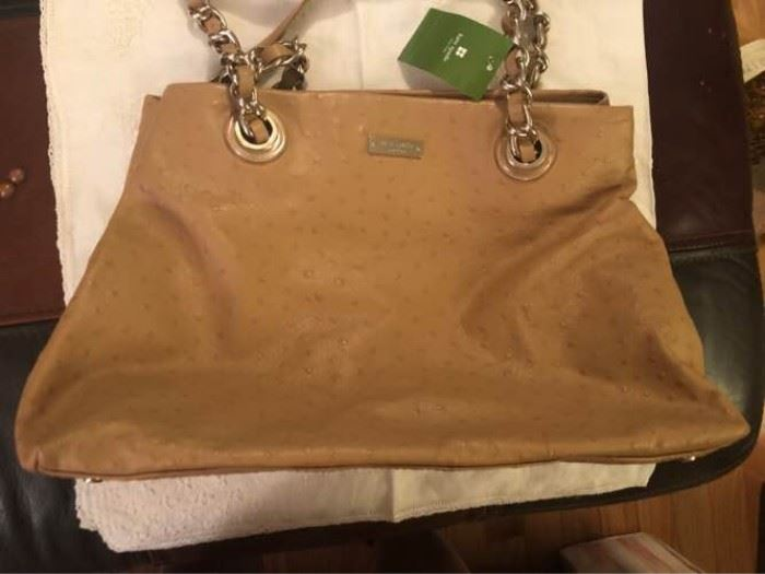 Kate Spade ostrich patterned handbag