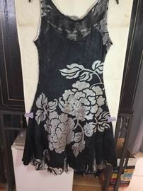 Komarov Charcoal and white dress L
