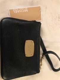 Michael Kors small black wristlet