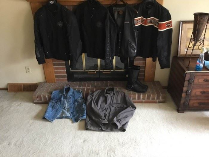 Harley Motorcycle Vests and Jackets