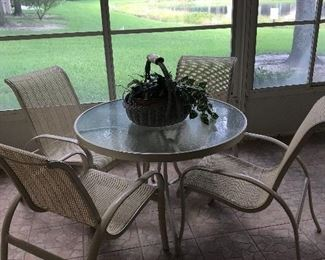 $49.00! OUTDOOR TABLE & 4 CHAIRS