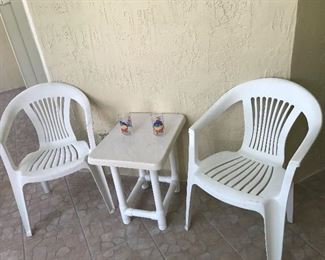 $15.00! 2 CHAIRS, $10.00! TABLE